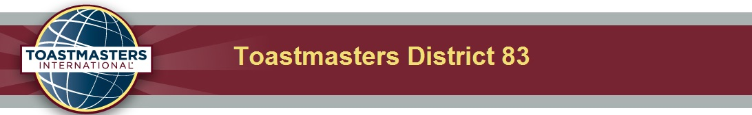 District 83 Toastmasters